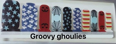 Bindy's Groovy Ghoulies Toe Nail Wrap