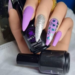 Bindy's Violet Rays & Let's Sparkle with Starry eyed NAIL Polish Wrap