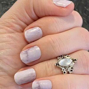 Bindy's Atlantic Marble Nail Polish Wrap