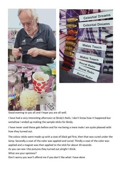 Bindy's Nails Cateye Gels Created by Wayne