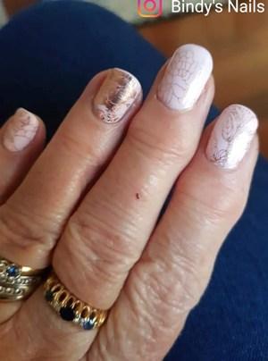 Bindy's Amarath One Step Gel with Rose Gold Wattle Nail Polish Wrap