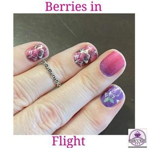 Bindy's Berries in Flight Nail Polish Wrap