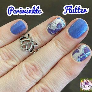 Bindy's Perwinkle Flutter Nail Polish Wrap