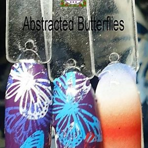 Bindy's Abstracted Butterflies Nail Polish Wrap