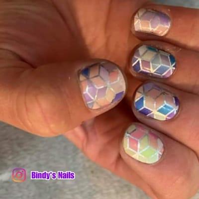 Bindy;s Rainbow Prism Nail Polis Wrap